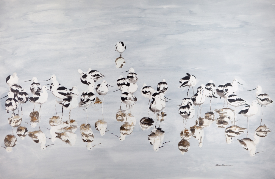 Avocets, American Acrylic 24 x 36 PNT_0057