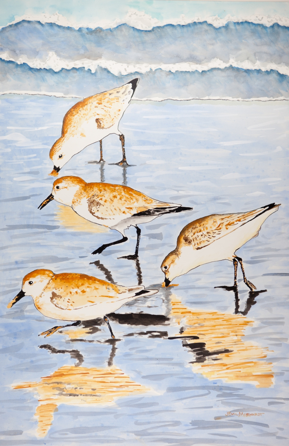 Sanderlings Acrylic 24 x 36 PNT_0056-2